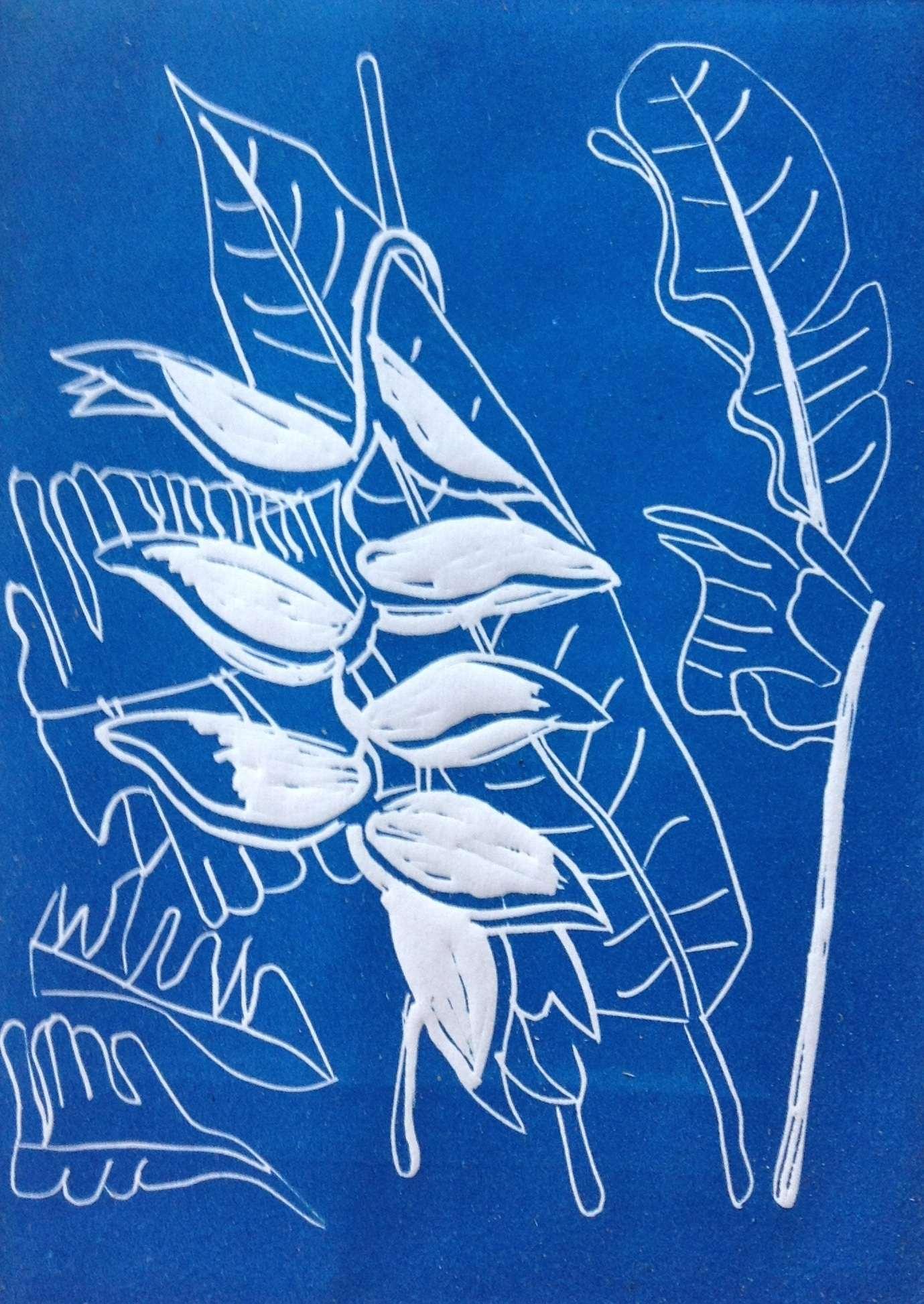 Balisier - bleu