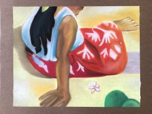 D'après Gauguin (pastel sec)